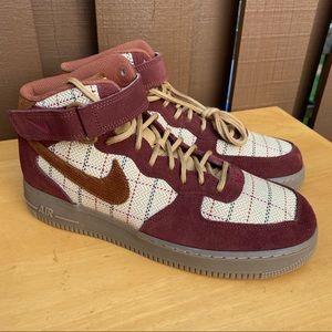 Nike Air Force 1 Mid '07 LV8 Plaid Gum Dark Brown